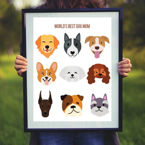 World's Best Dog Mom Print
