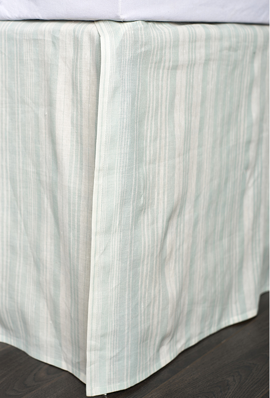 Aiden bed skirt seaglass