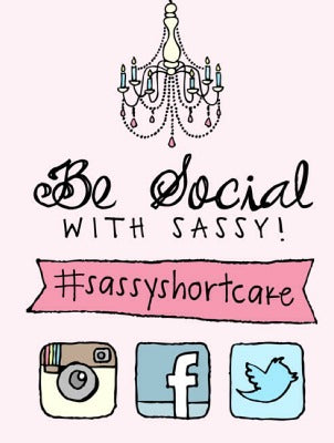 stay social with sassy shortcake on instagram twitter Facebook pinterest and wanelo