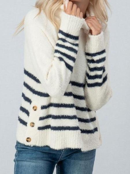 Moments In Time Striped Sweater | Sassy Shortcake Boutique | sassyshortcake.com