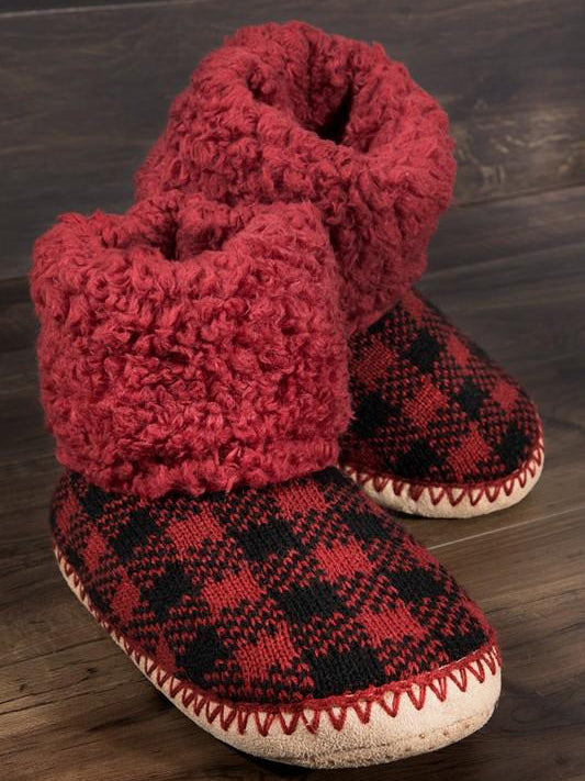 Buffalo Dreams Plaid Fur Slippers | Sassy Shortcake | sassyshortcake.com