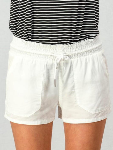 In Plain View Shorts | White