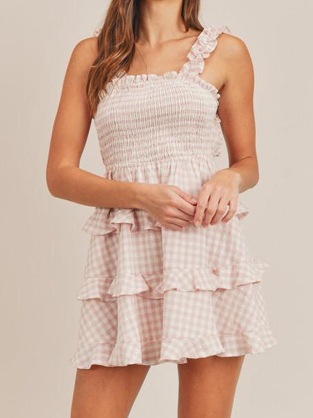 Posie Picnic Smocked Gingham Dress | sassyshortcake.com | sassy shortcake
