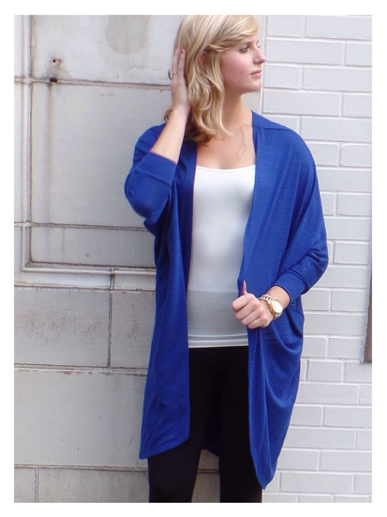 Royal Long Cardi