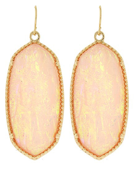 Peach Opal Earring Set | sassy shortcake