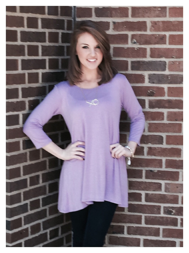 3adc4c0e382 Home > Products > Lilac Tunic Top