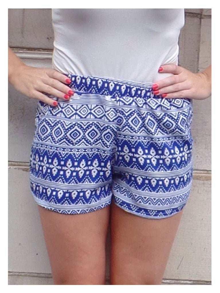 Royal Tribal Shorts
