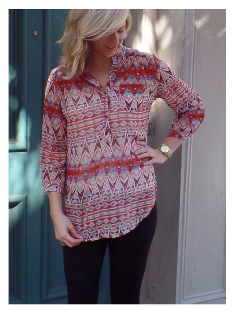 Tribal Sienna Tunic Top