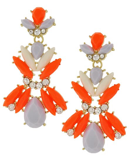 Neon Statement Earrings | Sassy Shortcake Boutique
