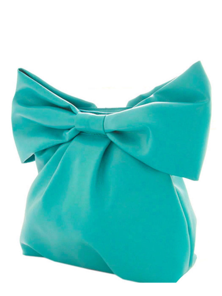 Mint Bow Clutch Bag | Sassy Shortcake Boutique