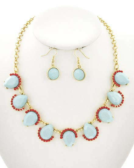 Sky Blue Necklace Set  | www.sassyshortcake.com