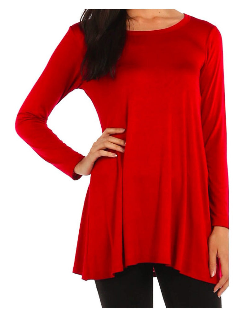 Peppermint Kisses Tunic Top