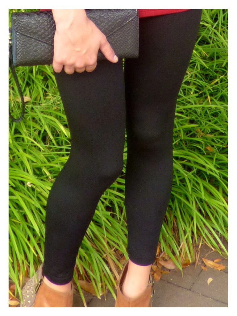 black fleece lined leggings | sassy shortcake | sassyshortcake.com