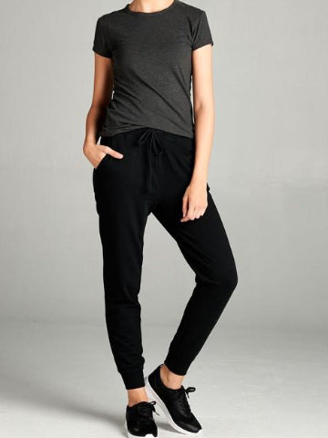 Black Losing Sleep Joggers | sassyshortcake.com | Sassy Shortcake
