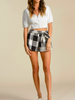 All Mine Black and White Paperbag Shorts | sassyshortcake.com | Sassy Shortcake