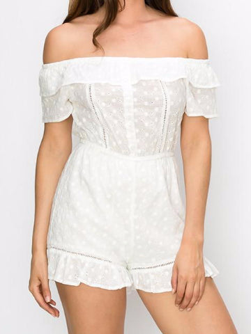 Never Growing Up Eyelet Romper | sassyshortcake.com | Sassy Shortcake