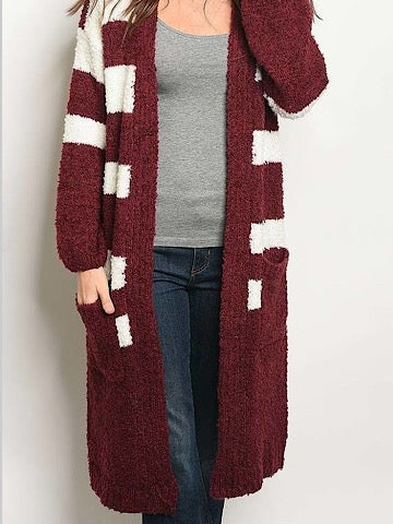 Garnet Far Out Cardigan | Sassy Shortcake | sassyshortcake.com