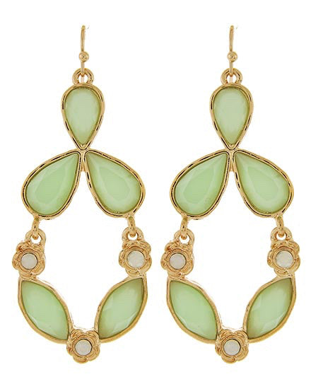 Mint Drop Earrings | Sassy Shortcake Boutique