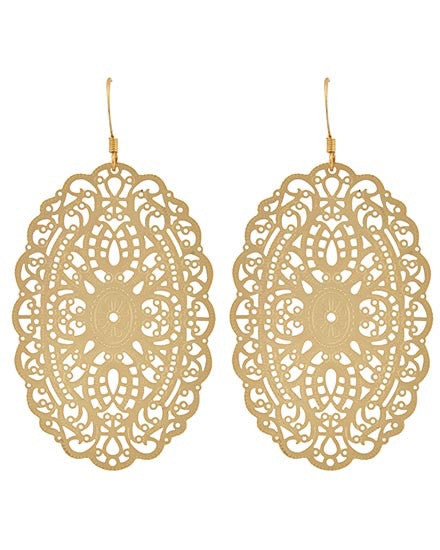 gold lace earrings  | www.sassyshortcake.com