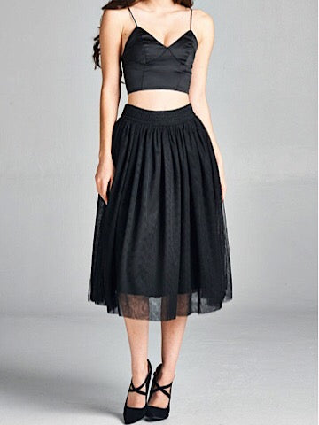 Whirl And Twirl Skirt | Black