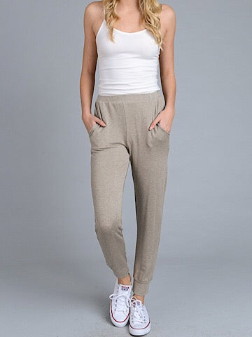 Cool And Collected Mocha Joggers | sassyshortcake.com | Sassy Shortcake