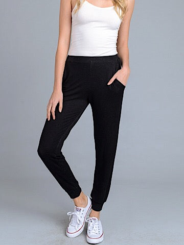 Cool And Collected Black Joggers | sassyshortcake.com | Sassy Shortcake