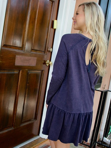 Navy No Going Back Dress | Sassy Shortcake | sassyshortcake.com