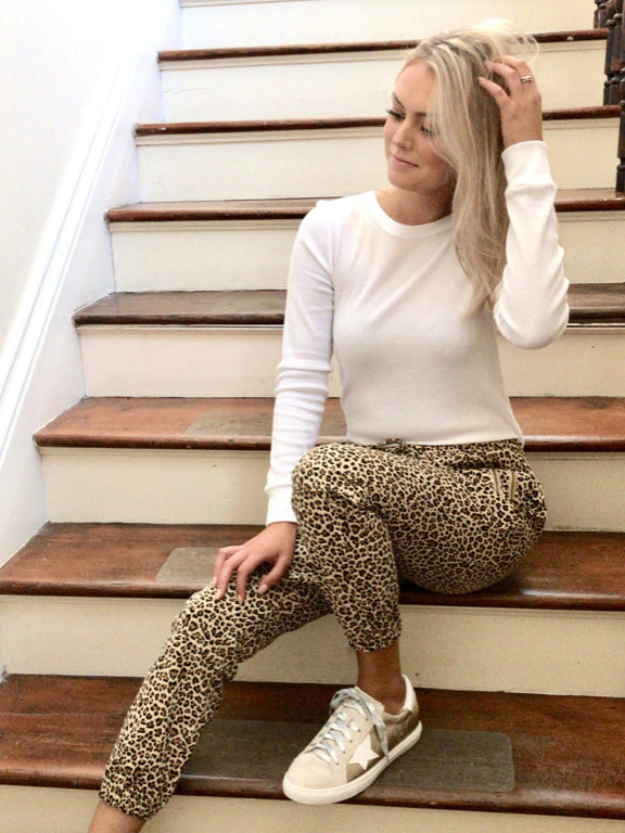 On The Spot Leopard Joggers | Sassy Shortcake | sassyshortcake.com