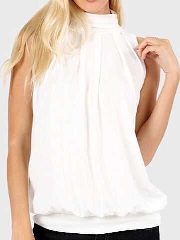 Invite Only Cream Sleeveless Top | sassyshortcake.com | sassy shortcake boutique