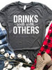 Drinks Well With Others Graphic Tee | Sassy Shortcake | sassyshortcake.com