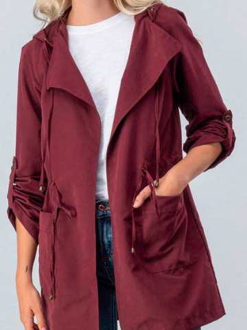 On My Way Jacket | Garnet