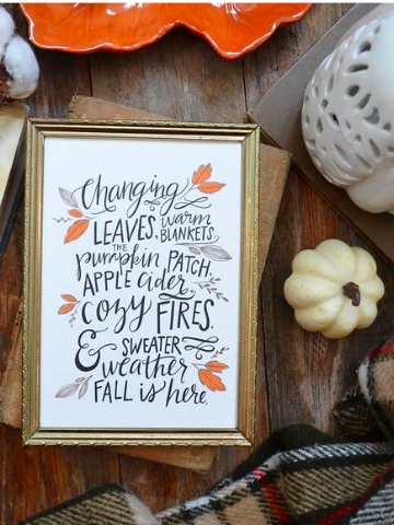 fall decorative print | sassy shortcake | sassyshortcake.com