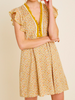 Worth It Mustard Floral Flutter Sleeve Dress | Sassy Shortcake | sassyshortcake.com