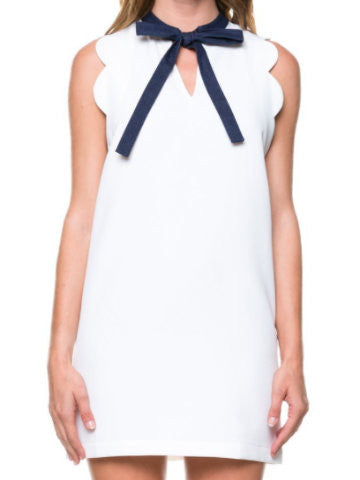 white scallop dress | sassyshortcake.com | sassy shortcake
