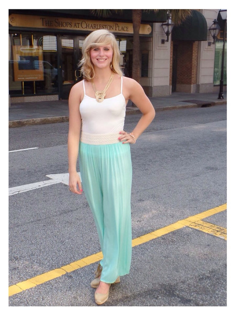 Mint Boho Chic Pants
