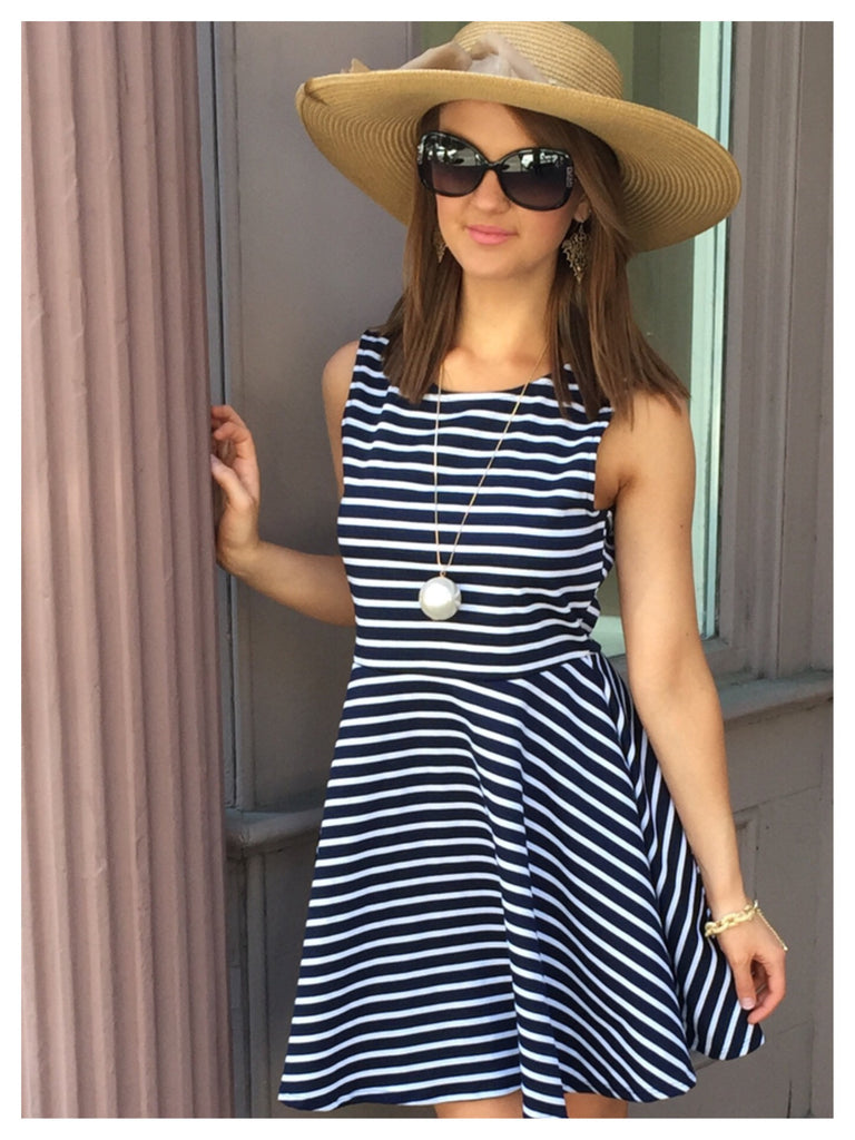 Seaside Striped Nautical Dress | Sassy Shortcake Boutique | www.sassyshortcake.com