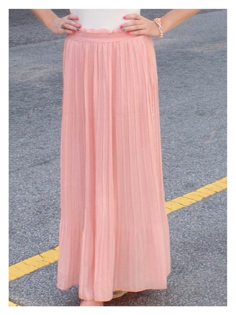 Sweet Pea Pleated Maxi Skirt