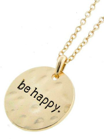 Charm Necklace - Be Happy  | sassy shortcake | sassyshortcake.com