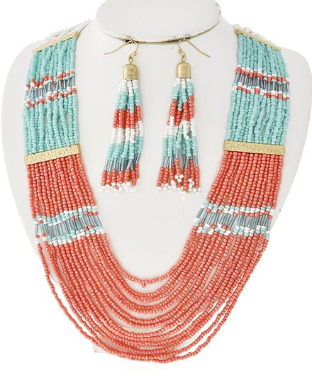 Seaside Coral Necklace Set