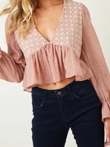 Boho Princess Top | Pink