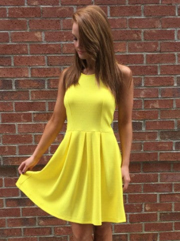 bright yellow dress | sassy shortcake boutique dress