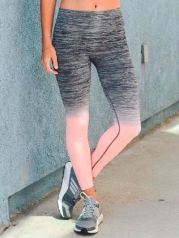 ombre yoga workout pants | castaway leggings | sassy shortcake
