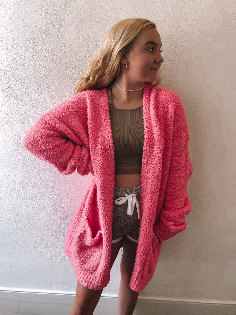 Cotton Candy Pink Cardigan | sassyshortcake.com | Sassy Shortcake Boutique