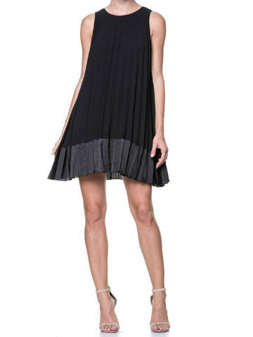 Little Black Pleated Dress | Sassy Shortcake | sassyshortcake.com