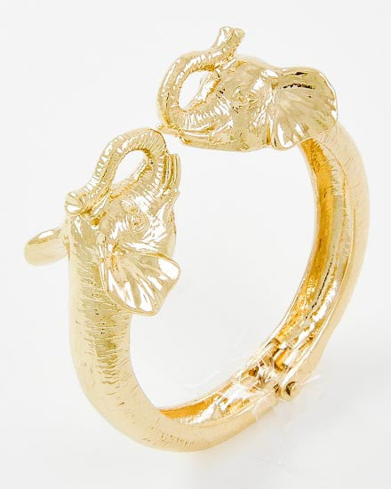 Elephant Duo Bracelet - Gold