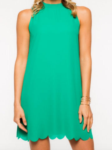 emerald scalloped dress | sassy shortcake | emerald beauty