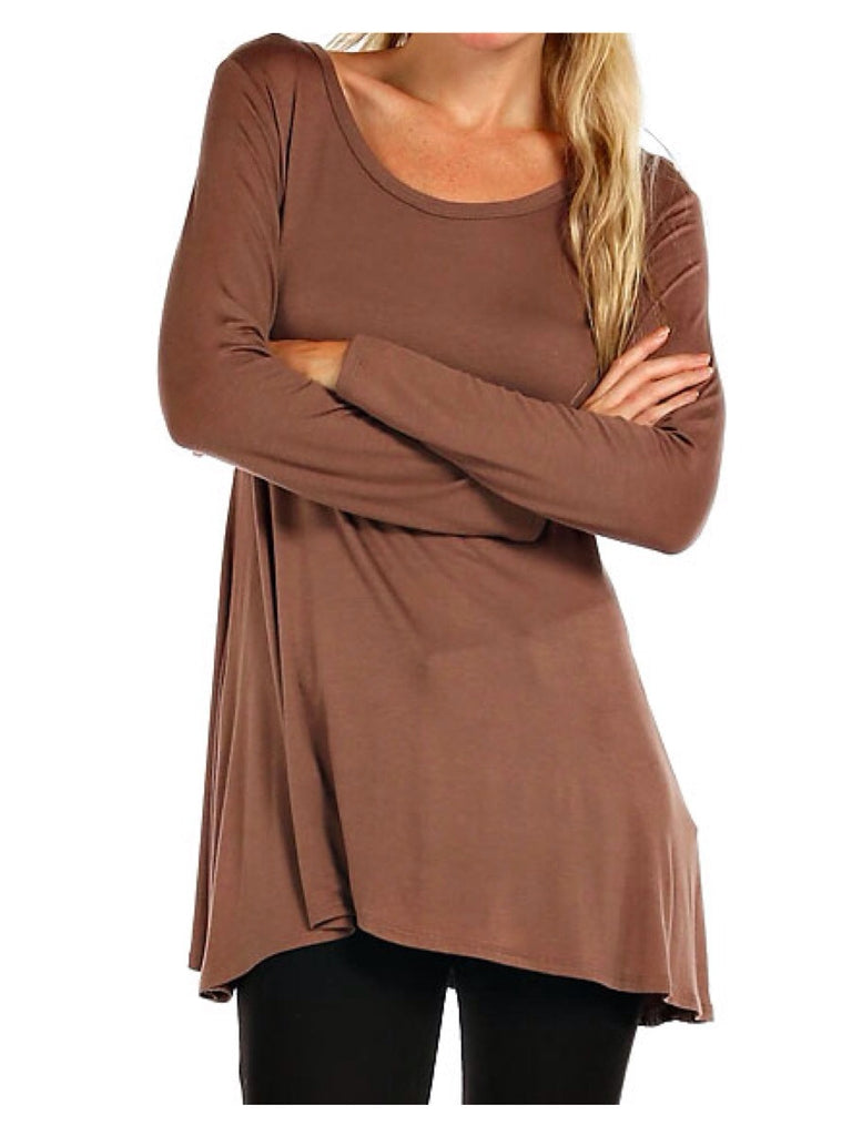 Mocha Maven Tunic Top