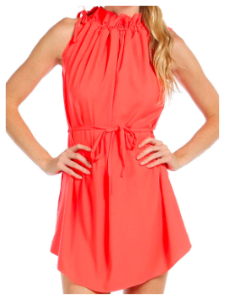 Coral Chloe Dress | Sassy Shortcake Boutique