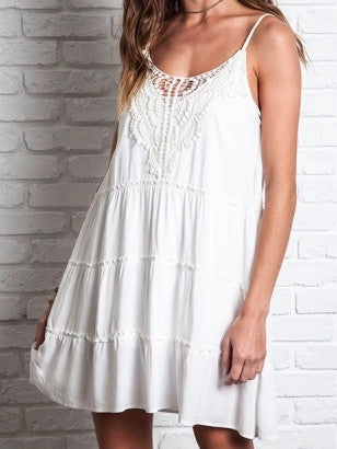 White Crochet Dress | Folly Summers