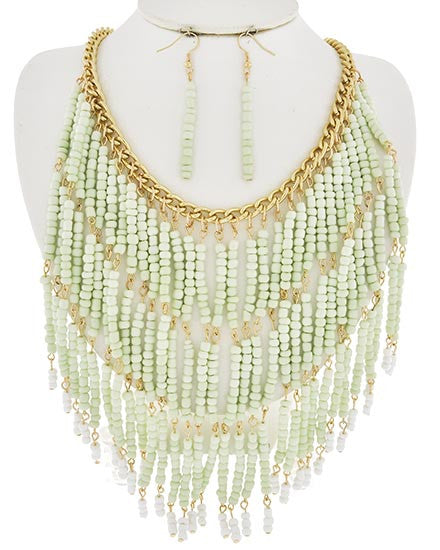Fringe Mint Necklace